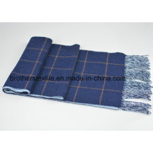 Wool & Cashmere Blended Plaid Scarf Double Face Scarf H16-04