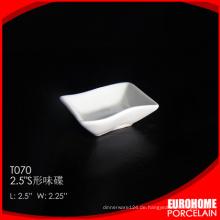 China Großhandel 2,5 Zoll Geschirr feine Keramik Soße Teller