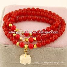 Perles de verre bon marché Bracelets en caoutchouc épais