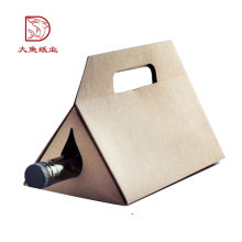 Made in China Einweg-Dreieck Geschenkbox Verpackung für Wein