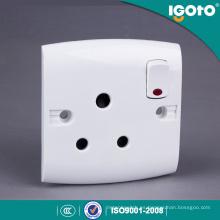 Igoto tipo británico E15-N 15A zócalo e interruptor con neón
