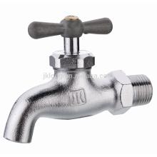 J6014 vernickelt geschmiedet Messing Bibcock Wasserhahn Wasserhahn