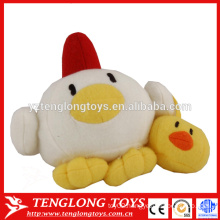 Funny toy stuffed chicken eggs