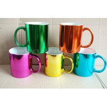 Metallic Ceramic Mug, Metallic Color Ceramic Mug