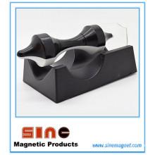 Jouets éducatifs suspendus magnétiques créatifs de noir-blanc de soucoupe volante