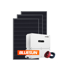 Bluesun solar system 20kw 30kw 36kw on grid whole house solar power system for residential