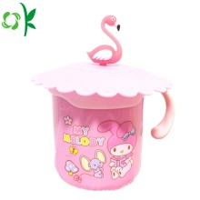 Silicone Glass Drinkg Cup Mok Deksel Cartoon Covers