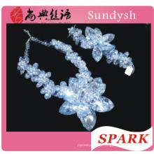 мода кристалл бисера коренастый заявление ожерелье в Китае