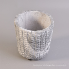 Water Transfer Cement Candle Holder Jar Wholesale