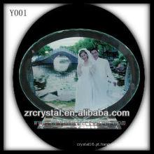 Retrato de casamento de cristal de impressão colorida Y001
