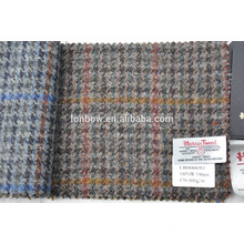 Best price 100% wool harris tweed fabric supplier with high quality