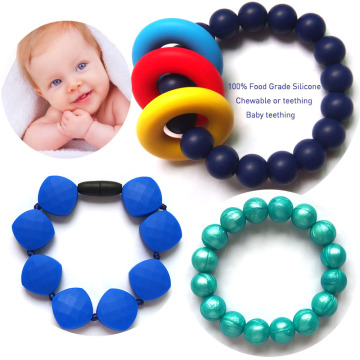Baby Teething Bangle Pulsera de silicona al por mayor