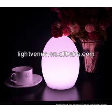 plásticos decorativos con led lámpara de mesa