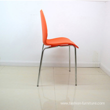 Italian steel frame polypropylene plastic stackable chair