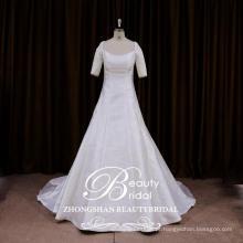 Serviço de OEM mais novo designer vestido de noiva Chinesa uma linha vestidos de estilo francês