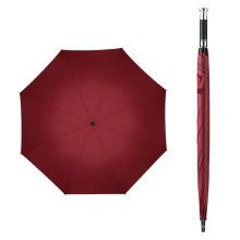 Straight Big Large Sport Golf Umbrella Double Canopy, Rolls Royce Umbrella with Silver Metal Color ABS Handle