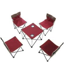 Grupos de acampamento de alta qualidade da tabela e da cadeira do jardim dos grupos, tabela de acampamento ajustada para exterior,