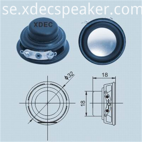 32mm 4ohm Multimedia Speaker