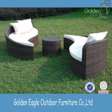 Outdoor Round Sofa Bed Rattan Furniture