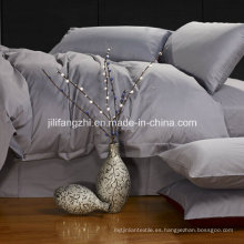 Juego de sábanas de algodón con conteo de 300 hilos, sin arrugas, 4 piezas