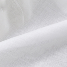 90 Polyester 10 Cotton White Plain Fabric