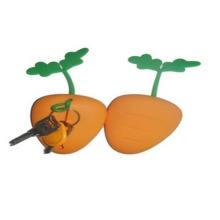 Estuche y llavero de silicona con forma naranja LFGB