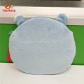 Animal lindo en forma de hipopótamo de peluche pequeñas monedas cremalleras bolsos llave bolsa