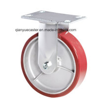 PU on Aluminum Heavy Duty Kingpin Less Rigid Caster America Type