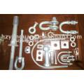 Feuerverzinktem Stahl Schäkel Freileitungen Zubehör Power-Pole-Linie Hardware-Montage elektrische Übertragungsleitung passend
