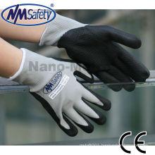 NMSAFETY foam nitrile lycra spandex gloves