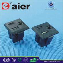 Tomada elétrica de 2 PINOS 10A 15A 250VAC / soquete da CA / tomada de soquete universal do interruptor