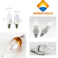 3W / 5W / E27 / E14, bulbos Cuspidal / Spuned de la vela del LED