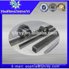 Helical rack and pinion gears