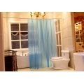 Rideau de douche PEVA Blue Design semi-transparent