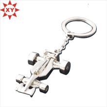 Porte-clé en métal en forme d'avion 3D avec placage d'argent (XY-mxl91005)