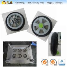 moldes de injeção para peças plásticas roda de carrinho de bebê