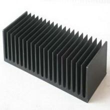 Prata de alumínio liso do dissipador de calor preto anodizado