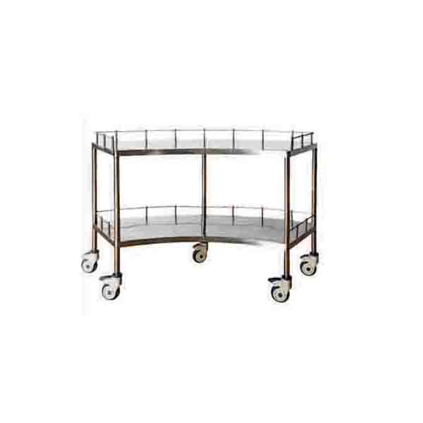 Stainless Steel Fan Shaped Equipment Trolley