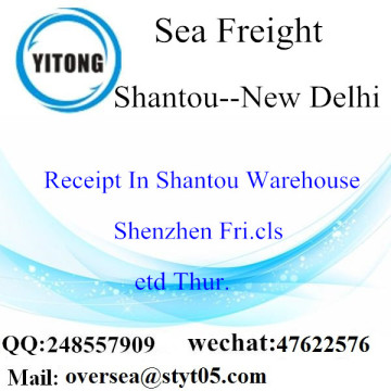 Shantou Port LCL Consolidation To New Delhi