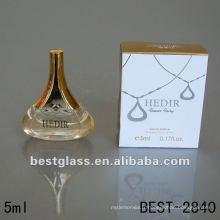 5ml belle bouteille en verre avec le parfum, bouteille de parfum avec le pulvérisateur, peut vous fournir le parfum