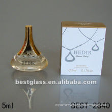5ml beautiful glass bottle with perfume, perfume bottle with sprayer, Can supply you perfume