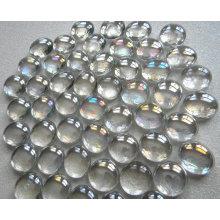 Lustre de pera superficie plana de vidrio decoración de mármol