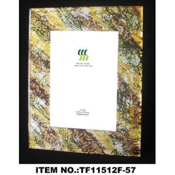 Belle feuille d'or papier verre cadre Photo