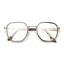 Korean Metal Frame Acetate Leg Myopic Frame Glasses Ins Popular TR90 Retro Vintage Men Glasses