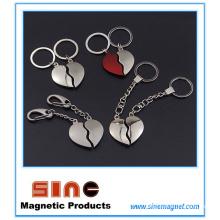 Форма сердца магнитный ключ кольцо/Валентина Подарки для пары