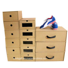 Складные ящики с ящиками из гофрированного картона с ясными окнами и ручками