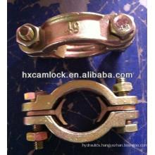 Double bolt hose clamp