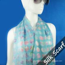 Bufanda de seda Georgette para mujer