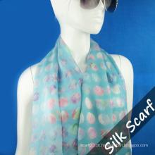 Georgette lenço de seda para as mulheres