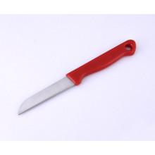 Couteau à lame incurvée en acier inoxydable, couteau à fruits avec poignée en plastique